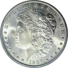 UNITED STATES Silver Coin 1886 MORGAN SILVER DOLLAR