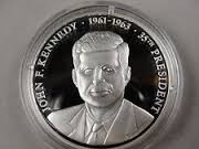 AMERICAN MINT Silver Bullion JOHN F. KENNEDY - PRESIDENTS OF THE USA - SILVER
