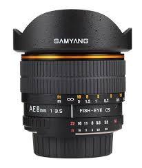 ROKINON Lens/Filter 8MM 1:3.5 FISH-EYE CS