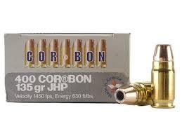 CORBON AMMO Ammunition 400 CORBON 135 GR JHP