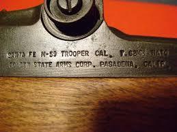 GOLDEN STATE FIREARMS Rifle SANTA FE M-59 TROOPER
