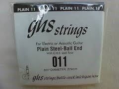 GHS STRINGS Musical Instruments Part/Accessory PLAIN STEEL-BALL END 011