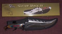 FROST CUTLERY Hunting Knife GATOR BACK IV