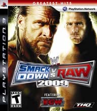 Sony PlayStation 3 Game SMACK DOWN VS RAW 2009