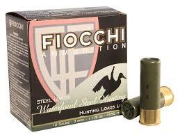 """FIOCCHI AMMUNITION Ammunition 12 GA 3"""" 1-1/5 OZ #1 WATERFOWL"""