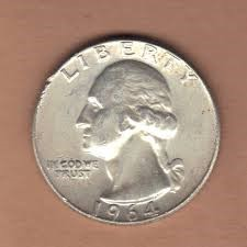 UNITED STATES Silver Coin QUARTER 1964