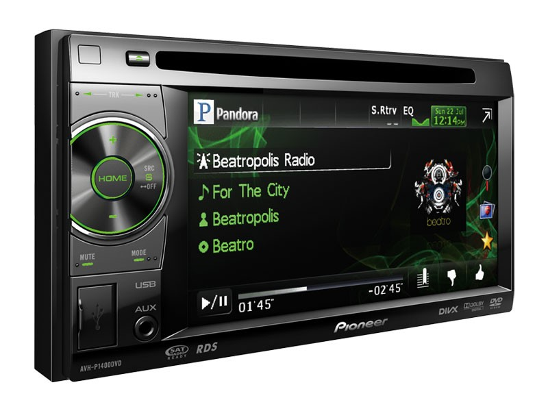 PIONEER ELECTRONICS Car Audio AVH-P1400DVD