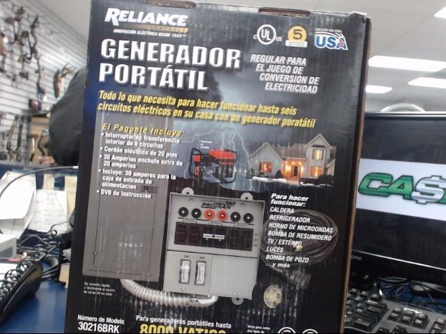 RELIANCE INUSTRIES Generator 30216BRK PORTABLE GENERATOR