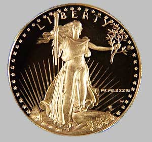 UNITED STATES Gold Bullion 2004 - GOLD AMERICAN EAGLE 1/2 OUNCE 24K Yellow Gold