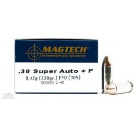 MAGTECH Ammunition .38 SUPER AUTO +P 130GR FMJ