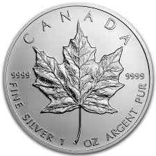 CANADA Silver Coin 1 OZ SILVER MAPLE LEAF
