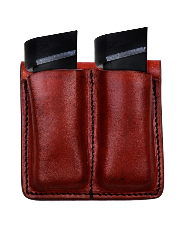 TAGUA GUN LEATHER Accessories MC6-037 DOUBLE MAGAZINE CARRIER