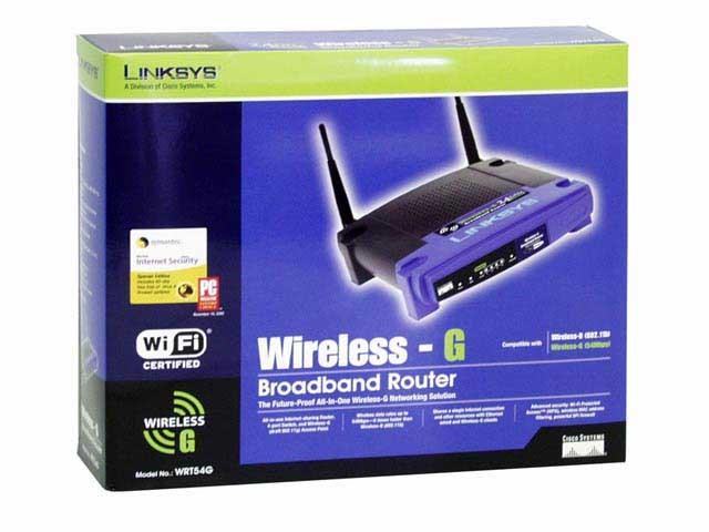 LINKSYS Modem/Router WRT54G WIRELESS-G BROADBAND ROUTER