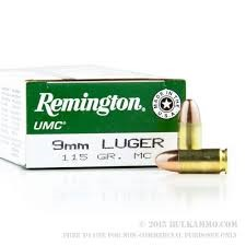 REMINGTON FIREARMS & AMMUNITION Ammunition 9MM 115GR MC