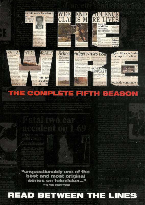 DVD BOX SET DVD THE WIRE 5TH SEASON