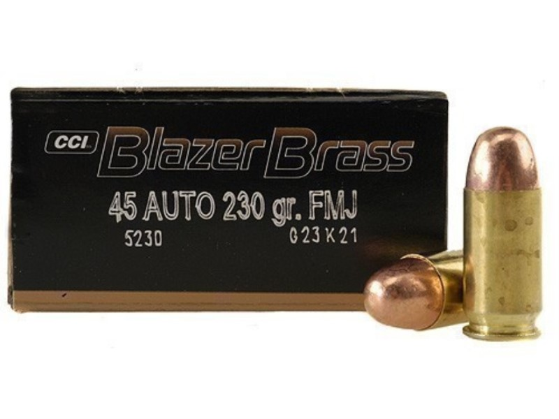 CCI AMMO Ammunition BLAZER BRASS .45ACP 230GR FMJ