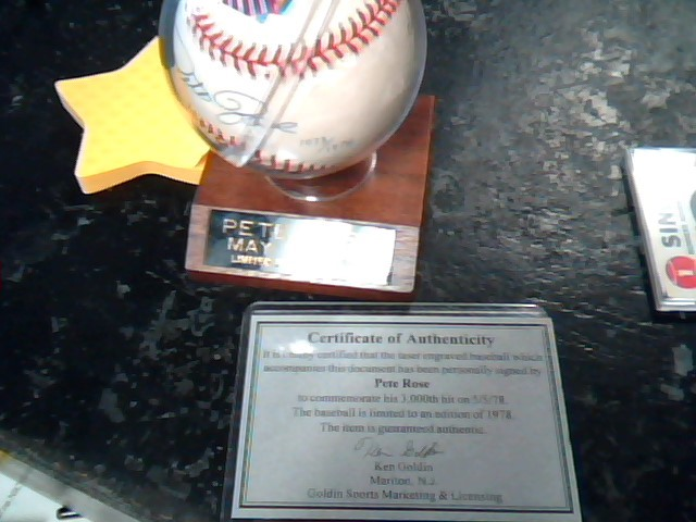 PETE ROSE Sports Memorabilia LIMITED EDITION OF 1978