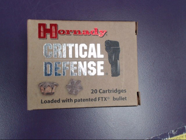 HORNADY Ammunition 45 AUTO 185 GR FTX CRITICAL DEFENSE