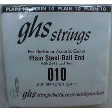 GHS STRINGS Musical Instruments Part/Accessory PLAIN STEEL-BALL END 010