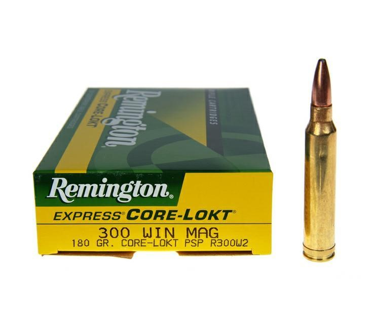 REMINGTON FIREARMS Ammunition 300 WIN MAG 150GR CORE LOKT PSP