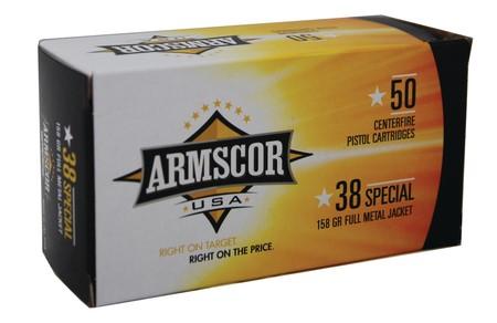 ARMSCOR Ammunition .38 SPECIAL 156 GR FMJ (FAC38-17N)