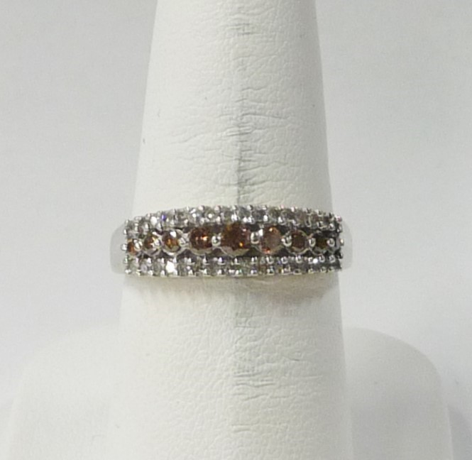 Lady's Chocolate Diamond Fashion Ring 41 1.27 Carat T.W. 10K White Gold 1.4dwt