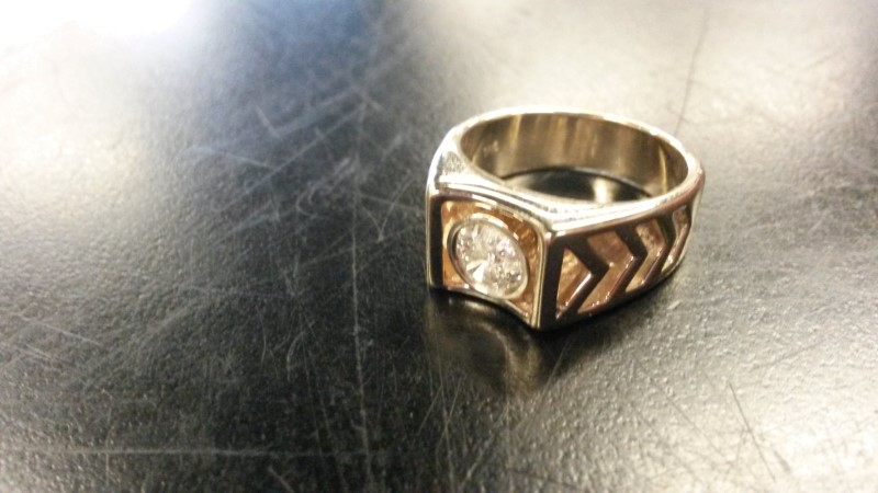 DIAMOND Gent's Diamond Fashion Ring .50 CT. 14K Yellow Gold 7dwt Size:8