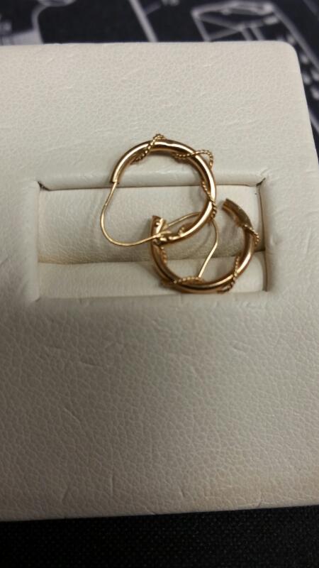 Gold Earrings 10K Yellow Gold 0.2dwt