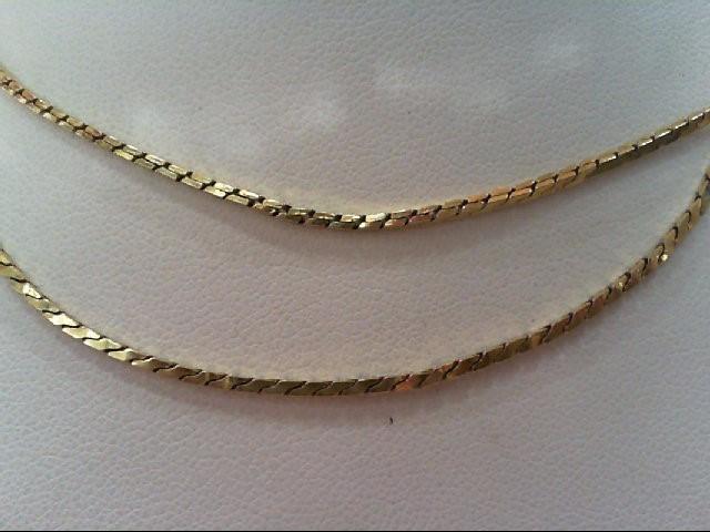 "22"" Gold Serpentine Chain 14K Yellow Gold 7.1g"