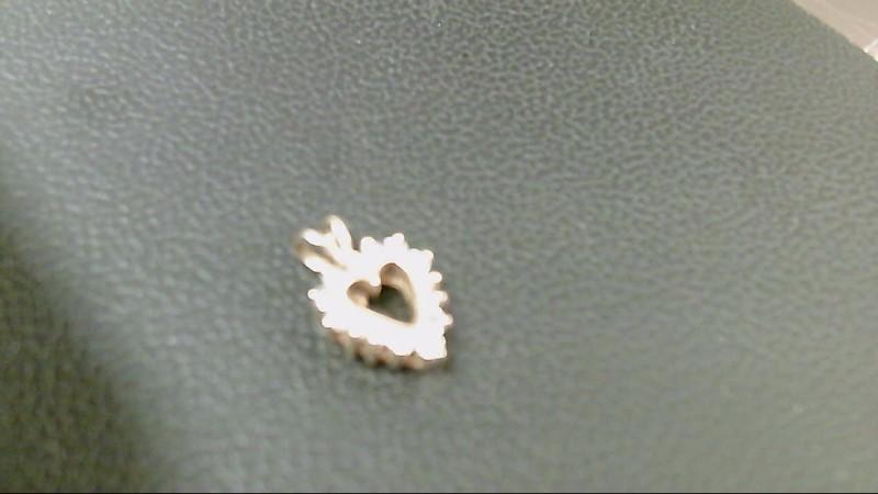 Gold-Multi-Diamond Pendant 13 Diamonds .13 Carat T.W. 10K Yellow Gold 1.1g