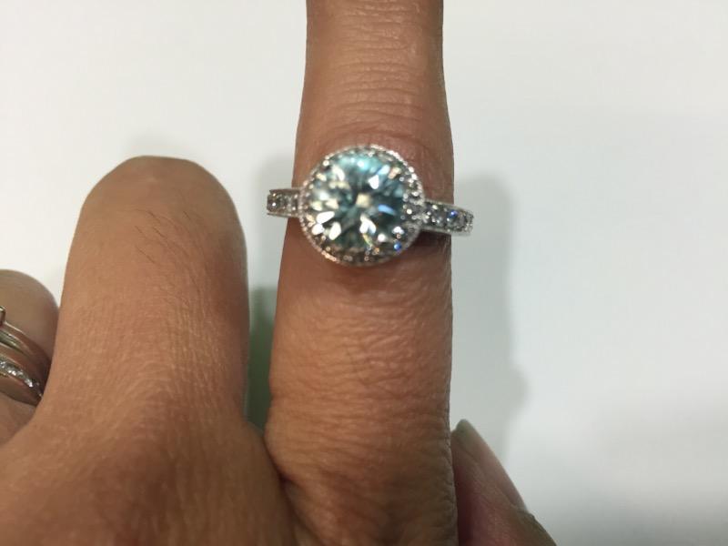 Blue Topaz Lady's Stone & Diamond Ring 31 Diamonds .45 Carat T.W.