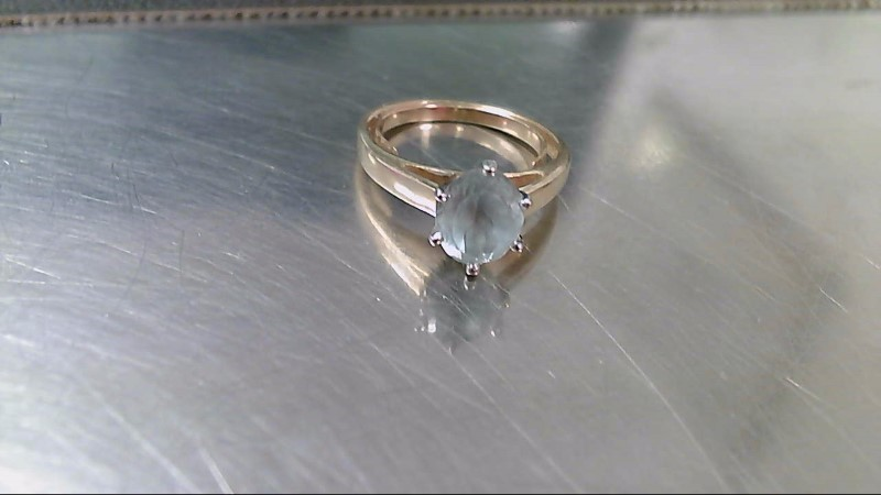 Blue Stone Lady's Stone Ring 10K Yellow Gold 3.5g