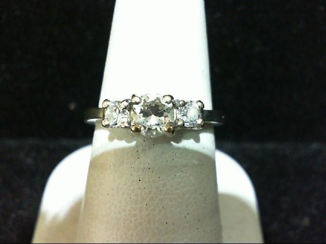 Lady's Diamond Wedding Band 3 Diamonds .86 Carat T.W. 14K White Gold 5.4g