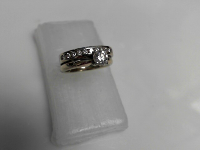 Diamond Engagement Ring 13 Diamonds .61 Carat T.W. 14K White Gold 5.17g