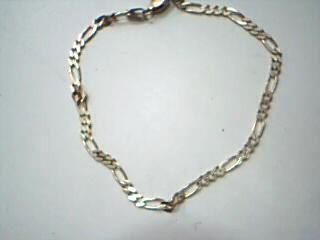 Gold Figaro Bracelet 14K Yellow Gold 2.7g