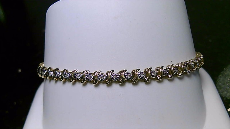 "7"" Diamond 0.47 CTT 10K Yellow Gold Tennis Bracelet"