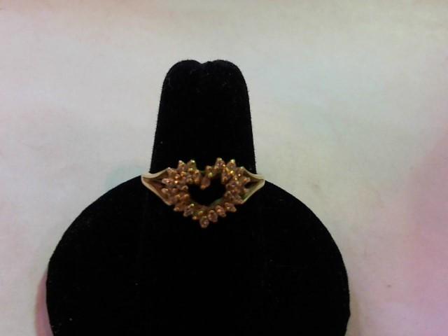 Lady's Diamond Fashion Ring 24 Diamonds .24 Carat T.W. 14K Yellow Gold 2.8g