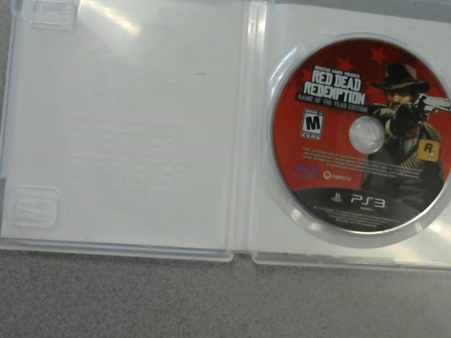 SONY Sony PlayStation 3 Game RED DEAD REDEMPTION GAME OF THE YEAR EDITION
