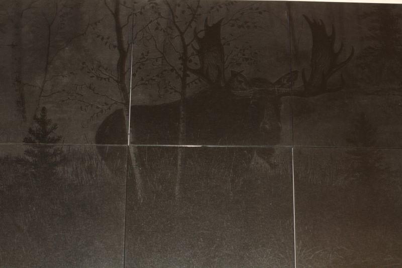Moose Laser Etched onto 12X12 Tiles