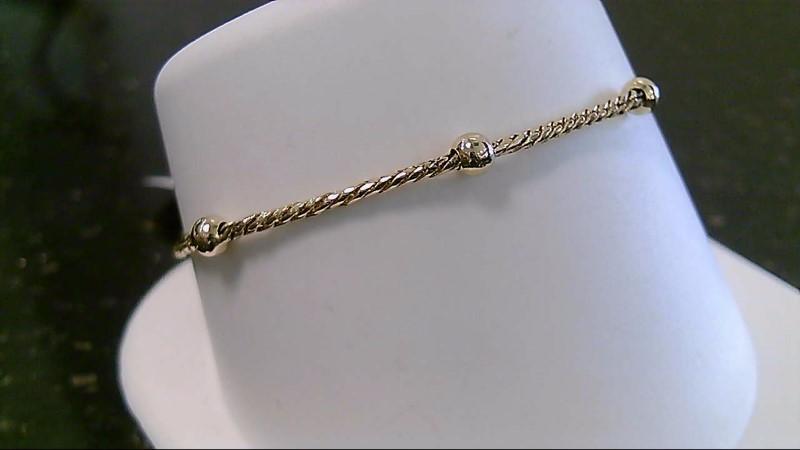 """6.75"""" Gold Fashion Bracelet 14K Yellow Gold 2.4g"""