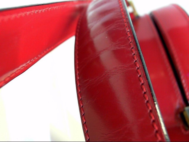RARE AUTHENTIC MOSHINO VINTAGE RED LEATHER HEART BAG