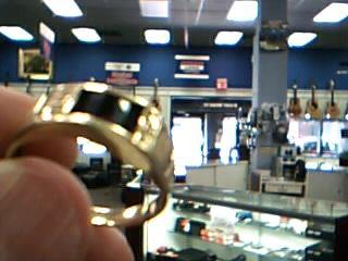 Onyx Gent's Stone Ring 10K Yellow Gold 3.1g
