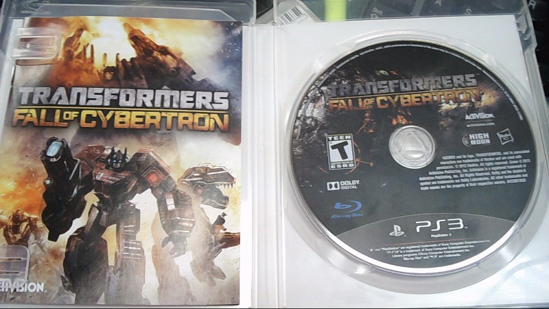 SONY Sony PlayStation 3 Game TRANSFORMERS FALL OF CYBERTRON PS3