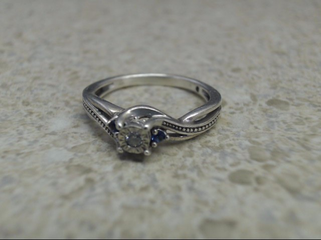 Lady's Silver Ring 925 Silver 1.9g Size:5.5