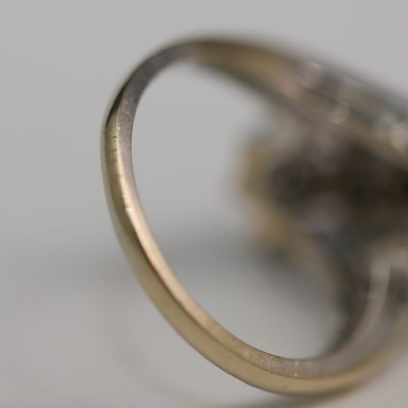 Diamond and Sapphire Ladies Ring 14K Size 6.5