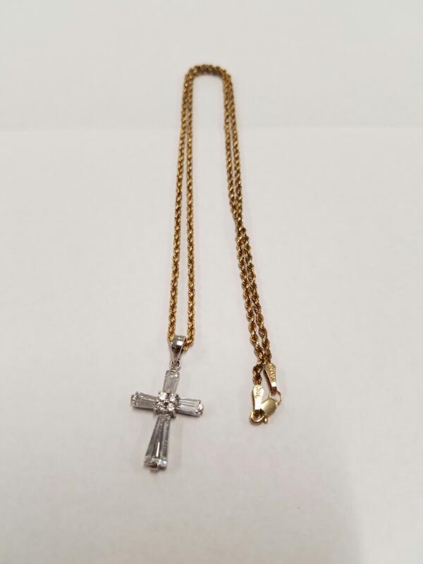 Gold Rope Chain 10K Yellow Gold 1.71g