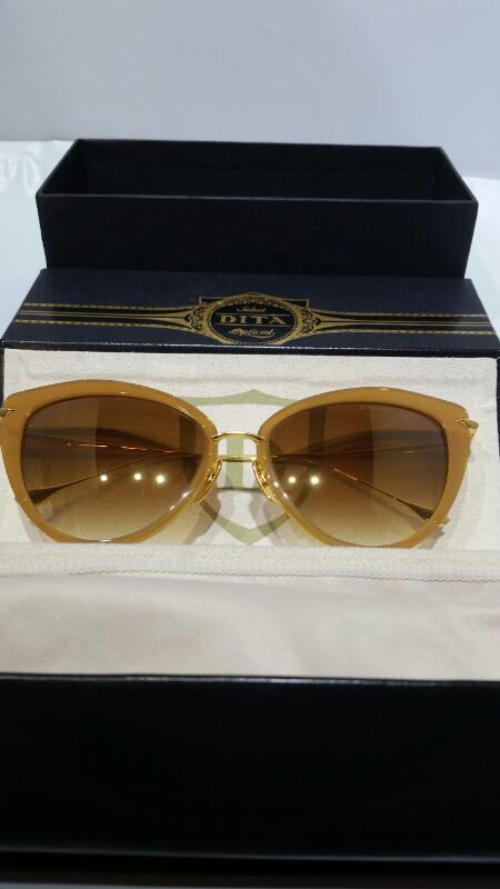 Dita Heartbreaker 22027A 18K Light Brown Crystal Women's Sunglasses