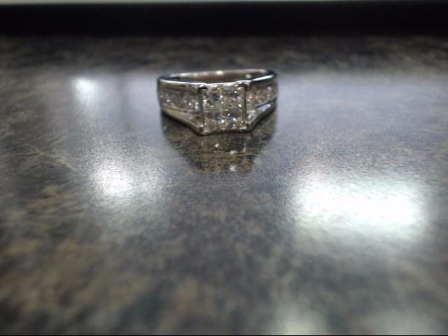 Lady's Gold Ring 14K White Gold 6.1g