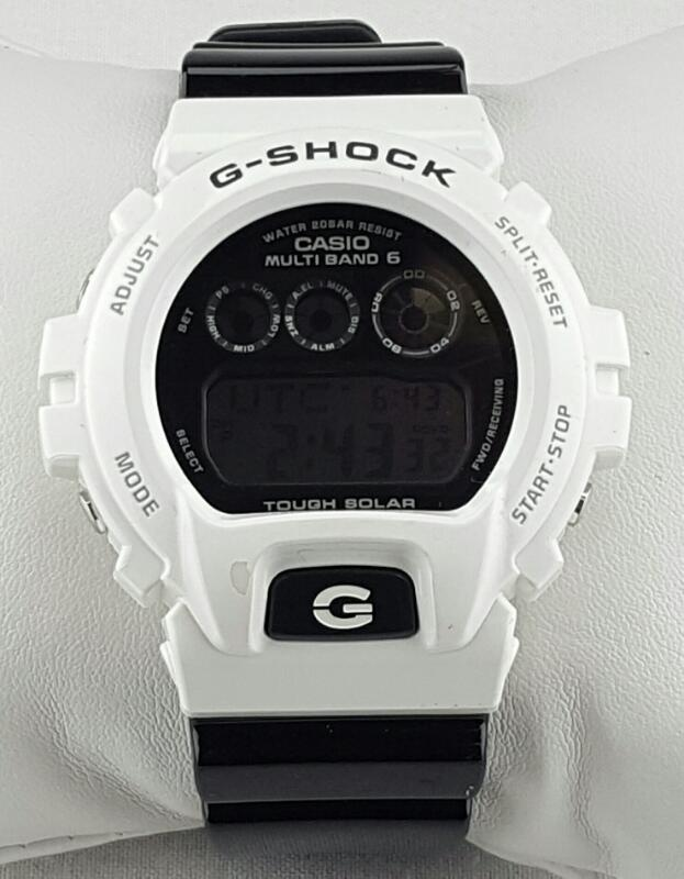 CASIO G SHOCK 3179 WHITE CASE, BLACK BAND