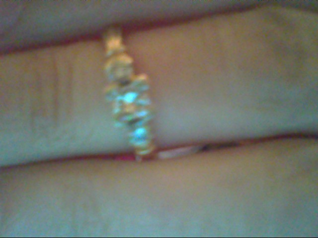 Lady's Diamond Engagement Ring 3 Diamonds .30 Carat T.W. 14K Yellow Gold 3.4g